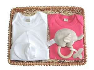 Little Miss Muffet Girl Baby Gift Basket by Mulberry Organics